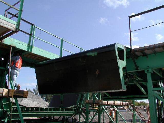 steel platform on a bridge